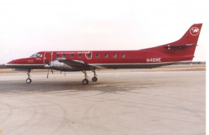 A Metroliner of Northeast Express Regional Airlines, circa 1993.   Photo by the author.