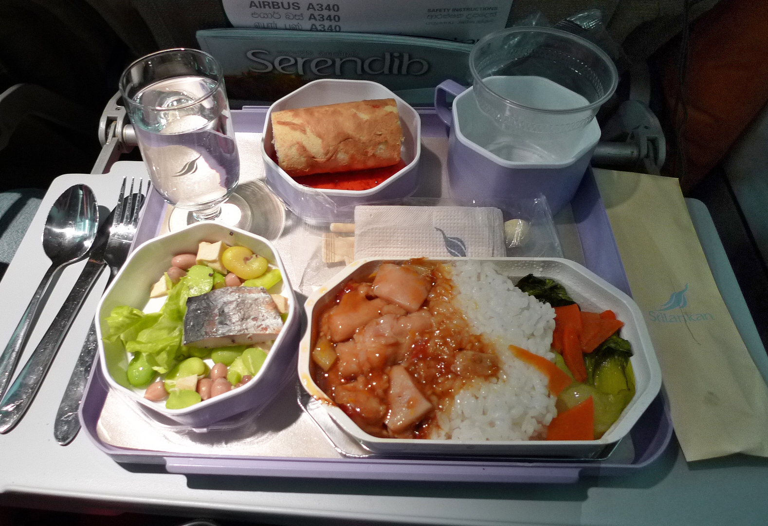 Sri Lankan Airlines Economy Meal