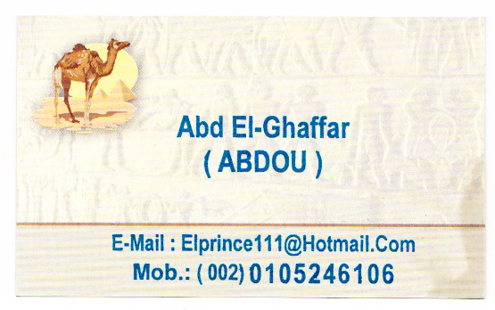 Abdou's Business Card