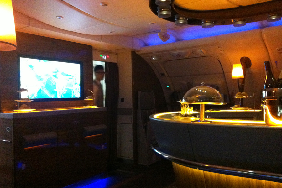 Emirates A380 Lounge