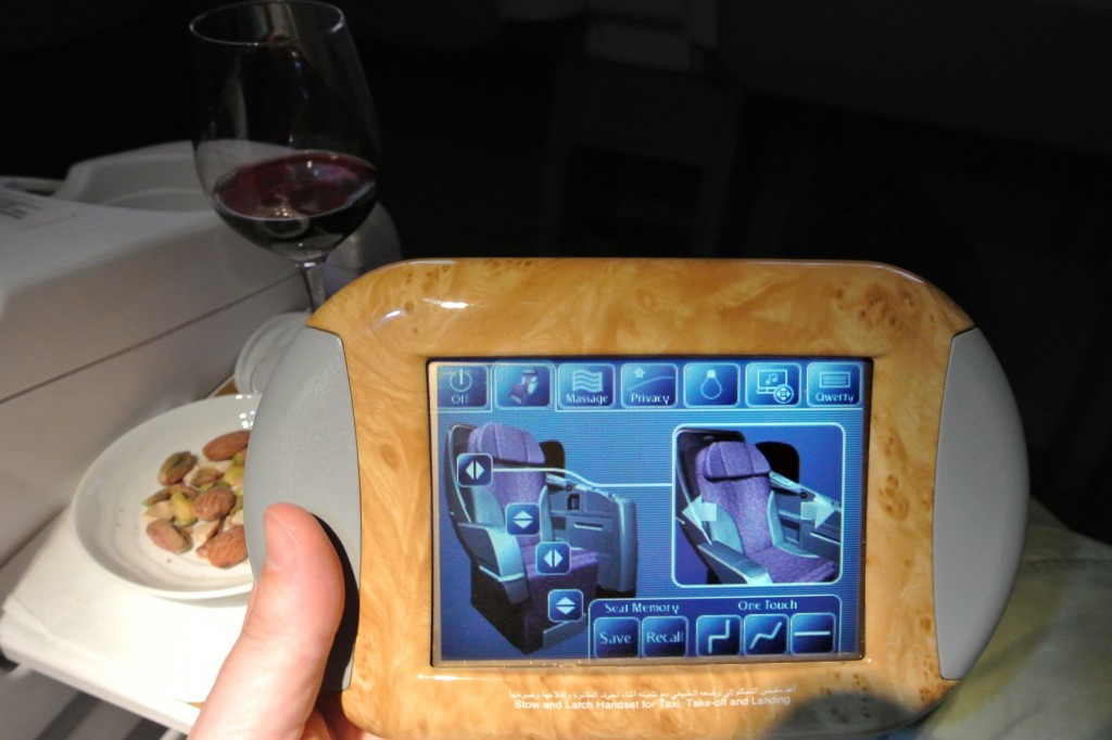 Emirates Seat Controls