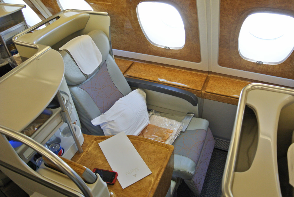 Emirates A380 Seat