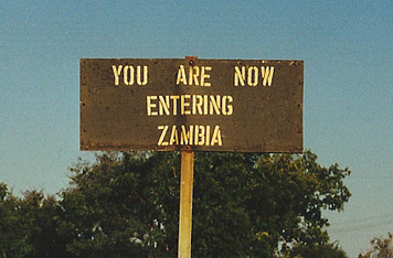 Welcome to Zambia. Sort of.      Photo by the author.