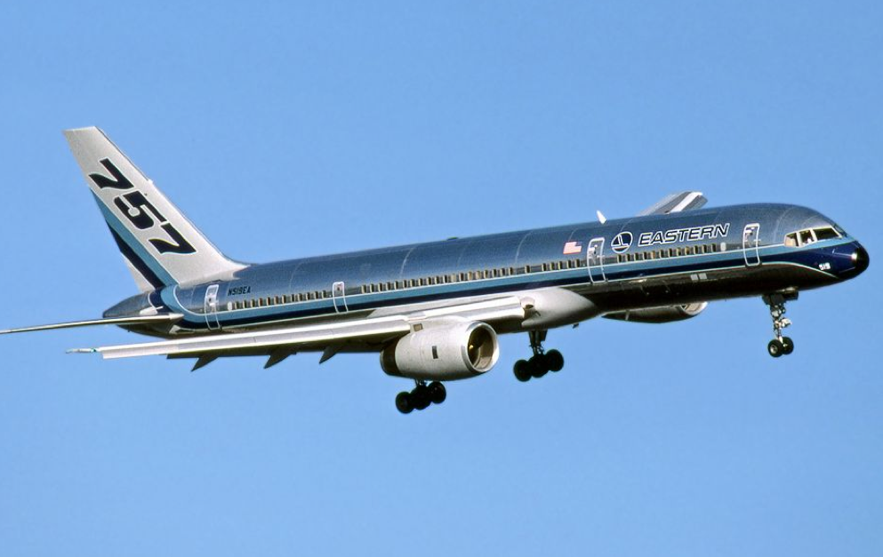 A 757 in the colors of launch customer Eastern Airlines.