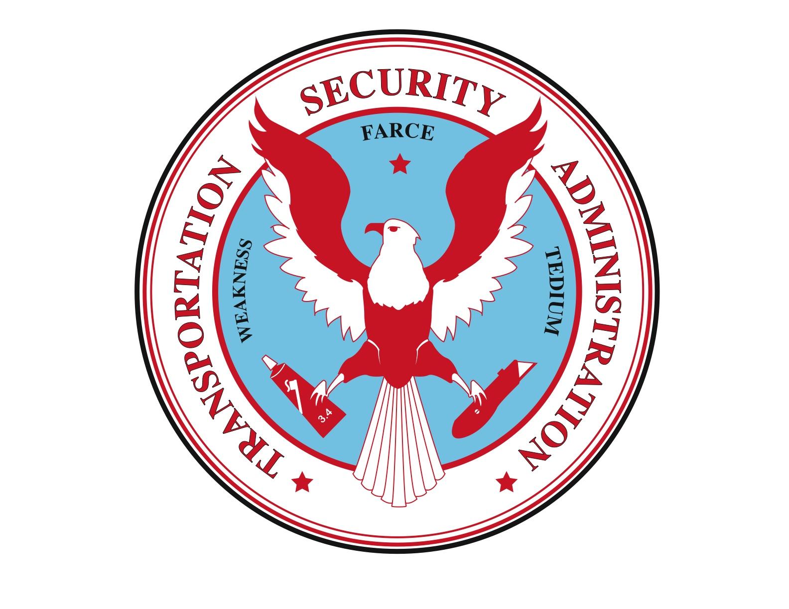TSA parody logo by Travis McHale