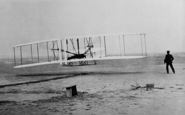 Canvas Wright Brothers Flying Plane Art print POSTER