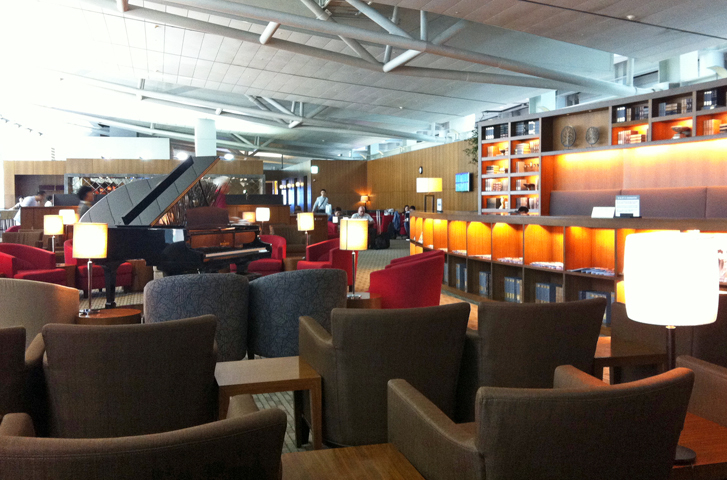 Asiana lounge at ICN.   Photo by the author.