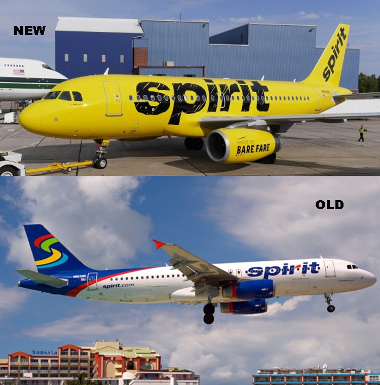 Spirit Airlnes Liveries