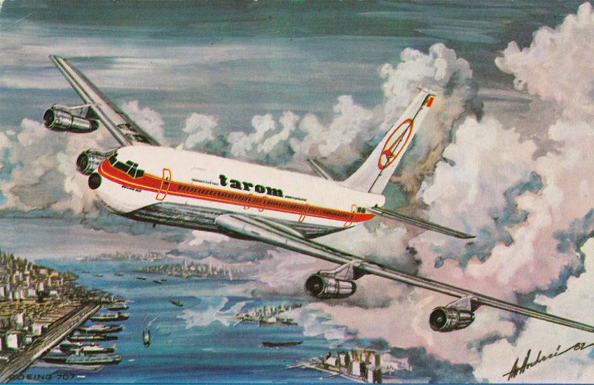 Tarom 707 Postcard