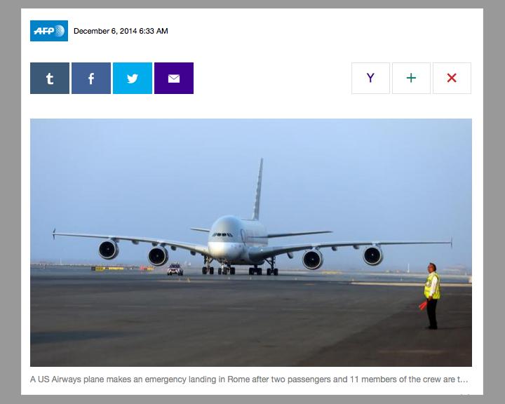 AFP A380 photo