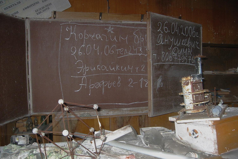 Chernobyl Pripyat Blackboards